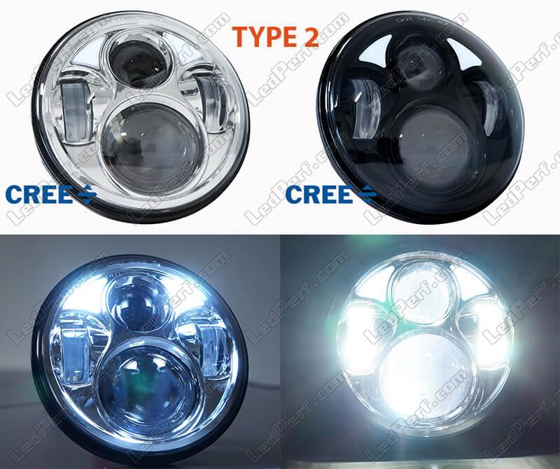 halogen lampen gegen led scheinwerfer