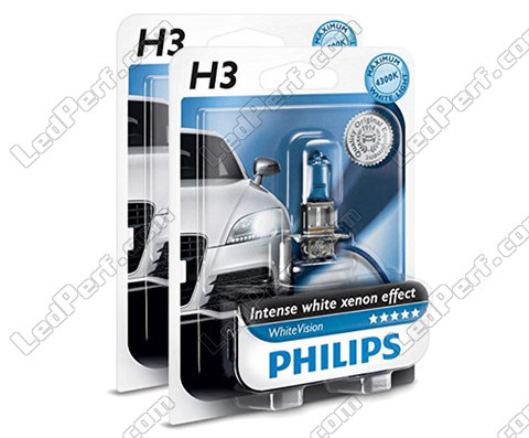 Pack mit 2 H3-Lampen Philips WhiteVision