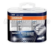 Pack mit 2 Lampen H1 Osram Night Breaker Unlimited