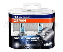 Pack mit 2 Lampen H4 Osram Night Breaker Unlimited