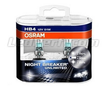 Pack mit 2 Lampen HB4 Osram Night Breaker Unlimited