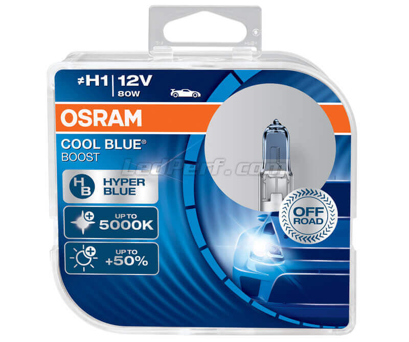 Packung mit 2 Lampen H1 Osram Cool Blue Boost - 5000K -  62150CBB-HCB